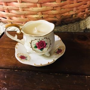 Teacup Candle - vintage candle , 3x5